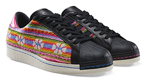 Adidas Superstar 80s Pioneers Pharrel Mens Fashion-baskets B25965 CBLACK,GOLDMT,FTWWHT