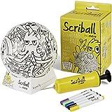 Minipelota de fútbol de Mitre personalizable con rotuladores de colores de la marca Scriball, color Oobil, tamaño mini