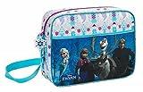 Disney Frozen - Die Eiskönigin Elsa Anna Schultertasche Messenger (S137), blau/weiß, 38 x 28 x 10 cm