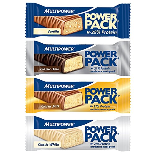Multipower Power Pack Protein Bar Eiweissriegel a 30 x 35g) BIG BOX, Classic White