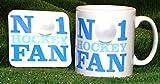 Nr. 1-Hockey-Fan Tasse und Untersetzer