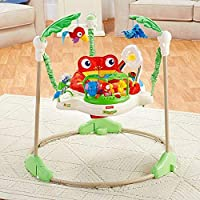 Multifunctional Electric Baby Jumping Walker Cradle Rainforest Baby Swing Body-Building Rocking Chair Lucky Child Swing For Child (3-Month To 3-Year) - (Green And White)