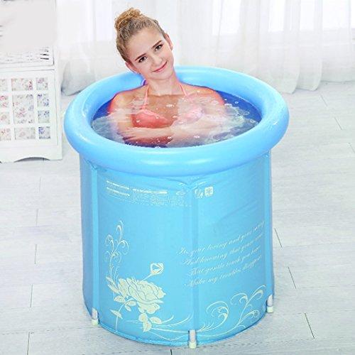 Tinksky Erwachsener faltbare Badewanne aufblasbare Portable Kunststoff Badewanne Super Dick