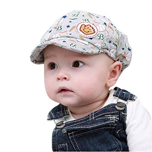 erthome Baby Hut Kappe, Sommer Kinder Baseball Cap Barett Kappe Junge Mädchen Hüte Caps (Grau)