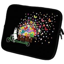 art&cherry 5,8Zoll Kobo Aura Schutzhülle/Tasche/Hülle aus Neoprenstoff mit Reißverschluss + Touchstift 107