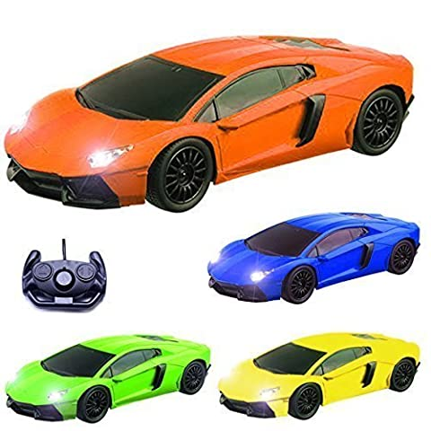 Comtechlogic CM-2176 1:16 Lamborghini Aventador Style Radio Controlled RC Electric Car - Ready to Run EP RTR (Green / Orange / Yellow / Random Colour) (ORANGE)