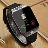 MacBerry DZ09 Bluetooth Smartwatch With Sim Card, Camera & Memory Slot Support for Andorid/iOS Devices (Color may vary)