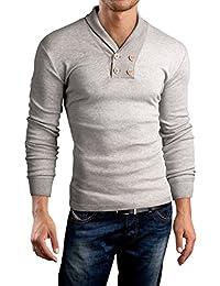 Grin&Bear Slim Fit Schal V Kragen Shirt, BH115