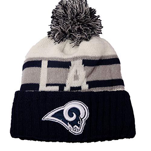 holly joll Beanie Strickmütze Pom Fußball Sport Cap 3D Logo Winter Cozy Sport Outdoor Hat -