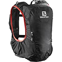 Salomon Skin Pro 10 Set Mochila, Hombre, Negro (Black/Bright Red), Talla Única