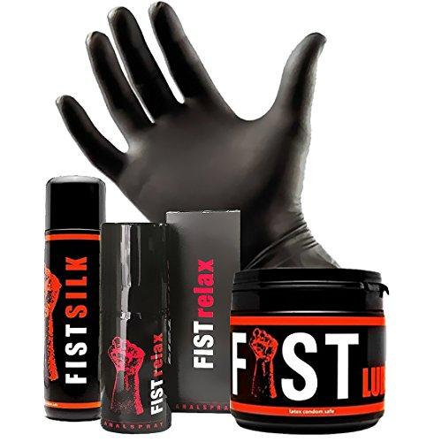 FF STARTER - FISTING KIT (Gleitgel, Analspray & Handschuhe) (L)