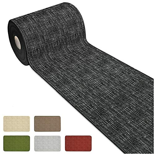 Arrediamoinsieme-nelweb tappeto cucina passatoia bordata su misura al metro h54 cm bordato tinta unita retro antiscivolo mod.chalet38 bordeaux