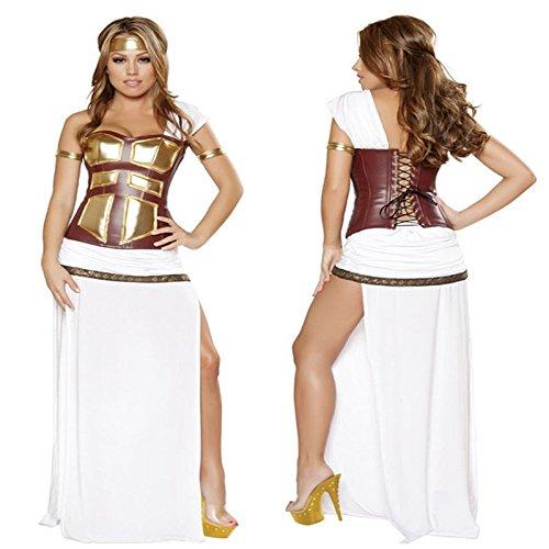 Gorgeous Halloween-Kostüm weiß Prinzessin Kleid Nachtclub ägyptische Soldaten dienenden Rollenspiel (Kleid Ägyptischen)