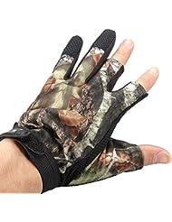 3 Cut Finger Proof Gants Anti-Slip Camouflage Pche Chasse d'eau