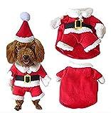 SHUNLIU Disfraces de Navidad Perro Mascota con Gorro Papá Noel Navidad Mascota Traje de Navidad