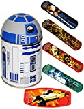 alles-meine.de GmbH 1. Hilfe _ Pflasterset -  Star Wars - R2-D2  - 18 Stück wasserfeste Pflaster - in Metall Box - Pflasterbox Dose bunt Kinderpflaster - Darth Vader / Stormtro..