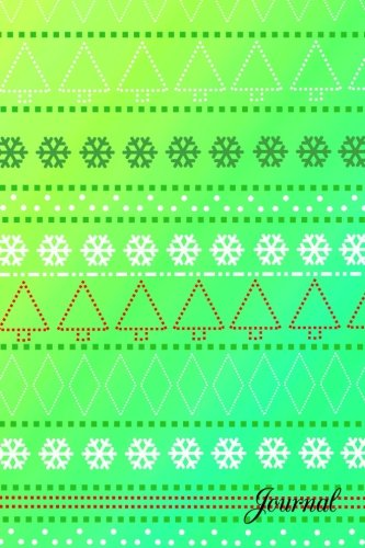 Journal: Yellow green ugly christmas sweater notebook
