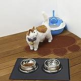 VRLEGEND Premium-Silikon Hundefutter Matte, Hundefutter Schalen,Futternapf-Matte Wasserdicht für Katze Hunde Langlebig, Einfach Anti-Slip, zu Reinigen und Verhindert Messes,Size 48x30cm (grau) - 3