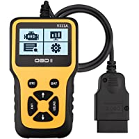 Novosun V311A OBD2 Diagnosegerät, Plug-and-Play Scanner Auto Diagnose-Tool Unterstützung 7 Sprachen für alle Fahrzeuge…