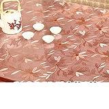 XKQWAN Pvc tischdecke Wasserdicht Vermeiden sie bügeln tisch matte Weiches glas Durchsichtige Frosted Kunststoff tischdecken Teetisch matten Dicke kristall plate tisch matte-B 24*24in
