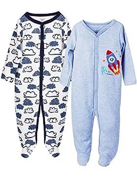 FUTURE FOUNDER Baby-Jungen Schlafstrampler, 2er Pack