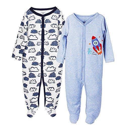 Baby-Jungen Schlafstrampler-12 Monate,2er Pack,von Future Founder
