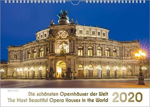 Opernhäuser, ein Musik-Kalender 2020, DIN-A-3: Die schönsten Opernhäuser der Welt - The Most Beautiful Opera Houses in the World
