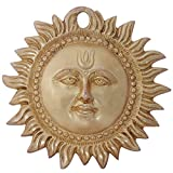 Ratnatraya Surya Wall/Door Hanging Brass Antique Finish For Home | Sun Mask Entrance Décorative Showpiece For Vastu