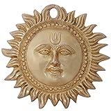 Ratnatraya Surya Wall/Door Hanging Brass Antique Finish For Home | Sun Mask Entrance Décorative Showpiece For Vastu