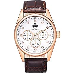 AIBI Waterproof Men's Analog Quartz Sport Watch Rose-gold Jewelry Case