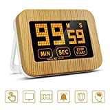 KONKY Kitchen Timer, Digital Kitchen Timer with Larger LCD Display and Loud Alarm