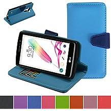 LG G4s Funda,Mama Mouth PU Cuero Billetera Cartera Monedero Con Soporte Funda Caso Case para LG G4s H735 H731 / H735L G4 Beat LTE,La luz azul