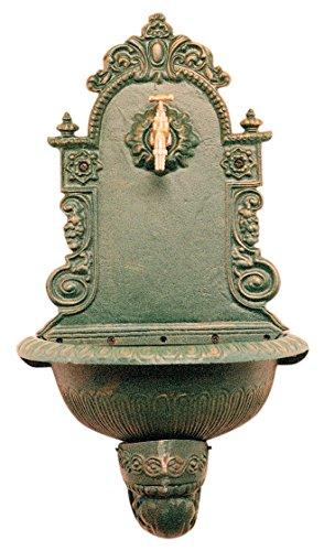 1pz fontana in ghisa a parete cm 43x24x60h peso 15,50kg colore bronzo