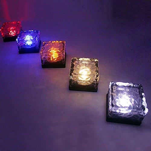 White, Warmwhite & Colorful LED Luz Solar Luz de Ladrillo Cristal Luz