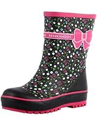 joli bottes de pluie / enfant botte de pluie, florale rose / 16.5 cm