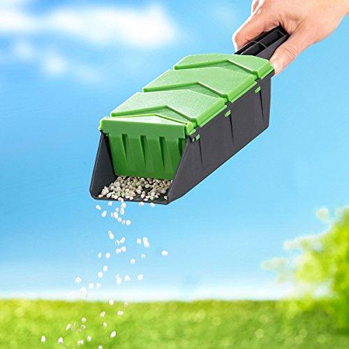 Unbekannt Wunder-Rasen-Hilfe, Streuschaufel, Handstreuer, Samendünger, Splitstreuer, Salzstreuer, Saatgut, Kunststoff, 29,5 x 10 x 6cm