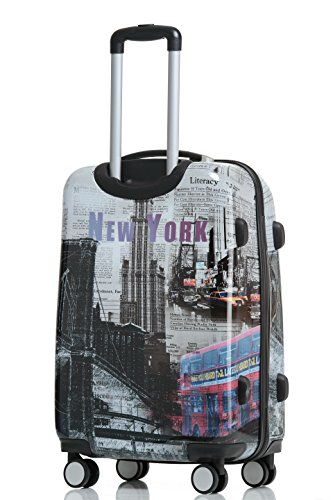 Reisekoffer 2060 Hartschalen Trolley Kofferset in 12 Motiven SET--XL-L--M-- Beutycase (NewYork, XL) - 3