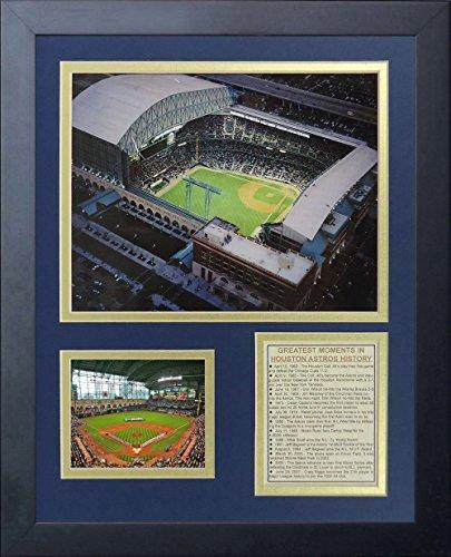 Legenden Sterben Nie Houston Astros Minute Maid Park gerahmtes Foto Collage, 11x 35,6cm