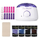 Wax Warmer BM Wax Heater Hair Removal Waxing Kit Upgraded Hot Wax Heater Pot with High Quality Hard Wax Beans (White)