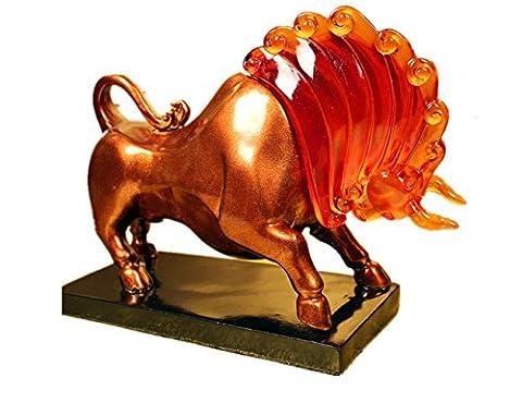 ULLK Symbolisiert Viel GlüCk Stier Handwerk, Die Antike Chinesische Glasur Handwerk, Business, Weihnachten Zu Schenken Freunde Besondere GroßE Geschenke
