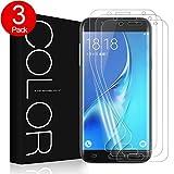 Galaxy J5 Schutzfolie, G-Color [Vollständige Abdeckung] [Gebogene passform ] [Blasenfreie] [ Kratzfest][HD Klar TPU Folie] [Nicht Glas]Schutzfolie Für Samsung Galaxy J5. (3 Stücke klar)
