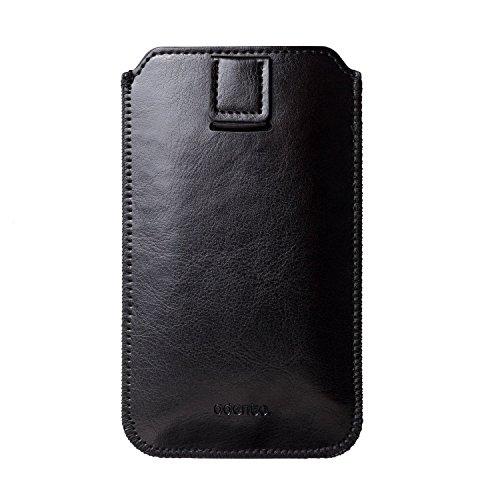 Coque Iphone 7/7+ Case, Etui en cuir synthétique avec recouvrement Passant noir
