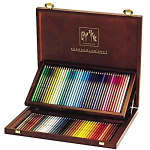 Caran d'Ache - Supracolor - Scatola Regalo in Legno 80 Matite Colorate Acquerellabili 3888.480