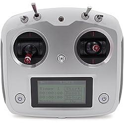 MODELTRONIC Emisora Radio Control Digital Drones de Carreras Flysky FS-i6S 10CH con Soporte para el telefono movil con FS-iA6B