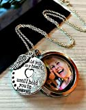 Best Sympathy Gifts - Memorial Floating Charm Locket with Sterling Silver Chain Review