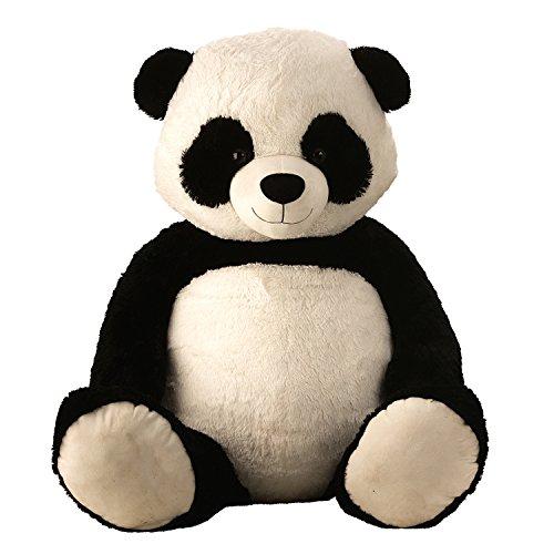 Lifestyle & More Riesen Teddybär Panda Pandabär Kuschelbär XXL 150 cm groß Plüschbär Kuscheltier samtig weich - zum liebhaben (Extra Großer Teddybär)