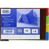 ELBA Intercalaires PVC translucide 4 positions 210 x148mm A L'italienne