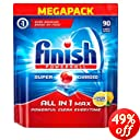 Finish Dishwasher Tablets, All in 1 Max Lemon, 90-Count