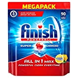Finish All-in-1 Max Lemon Dishwasher Tablets (Pack of 90)