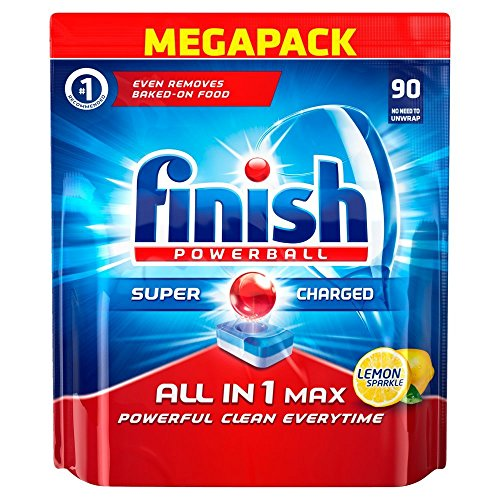 Price comparison product image Finish All-in-1 Max Lemon Dishwasher Tablets (Pack of 90)